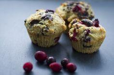 Muffins au citron, canneberges et chocolat