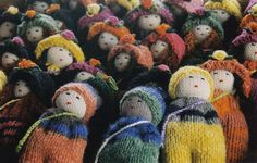 Muñecos de lana chilota Worry Dolls, Lana, Folk, Winter Hats, Textiles, Chile, Rag Dolls, Crochet Pattern, Trapillo