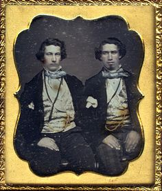 "Daguerreotype of two men ""with bleeding tints by smieglitz"" Vintage Photos Women, Antique Photos, Vintage Men, Vintage Pictures, Photographs Of People, Vintage Photographs, Post Mortem Photography, Black And White Pictures, Historical Photos"