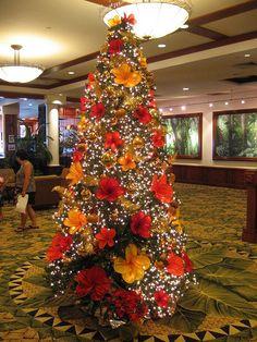 Hawaiian Christmas Tree