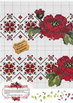 This Pin was discovered by Zdz Cross Stitch Borders, Cross Stitch Flowers, Cross Stitch Charts, Cross Stitch Designs, Cross Stitching, Cross Stitch Embroidery, Cross Stitch Patterns, Knitting Charts, Knitting Patterns