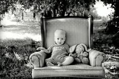I just love using this chair outdoors. Love him and the bunny! So sweet! <3