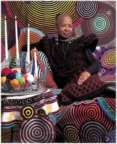 Xenobia Bailey, Crochet Artist: featured in the book: Yarn Bombing: The Art of Crochet and Knit Grafitti Freeform Crochet, Crochet Stitches, Crochet Patterns, Mandala Crochet, Crochet Ideas, Knit Art, Crochet Art, Yarn Bombing, Chesire Cat