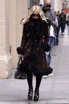 Look de inverno: Casaco de pele - Rachel Zoe