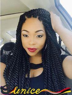 "Top Quality 18"" Havana Mambo Twist Queen Hair Products Synthetic Crochet Braids Hair Extension Kanekalon Fiber Hair Pieces"