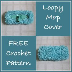 Free crochet pattern for a loopy mop cover. The crochet mop cover pattern is easy, however, it requires knowledge of the crochet loop stitch.