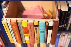 Gorgeous upcycled storage box saves old rejected books from the dump, and makes your shelves look so great.
