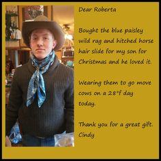 Wild Rag Scarf Western Cowboy Scarves Buckaroo Bandana silky paisley pale red 41