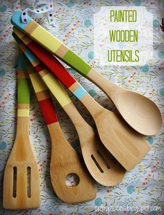 Painted Wooden Utensils by Cut To Pieces, via Flickr