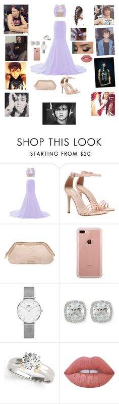 """senior prom with ashton irwin💜"" by briannacliffs ❤ liked on Polyvore featuring beauty, Burberry, Belkin, Daniel Wellington, Frederic Sage and Lime Crime"