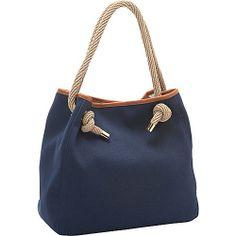 MICHAEL Michael Kors Marina Large Grab Bag Navy - MICHAEL Michael Kors Designer Handbags