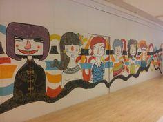 Novo painel do CenterVale, feito pelas 4Chicas. O universo feminino em forma de arte
