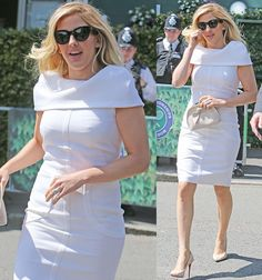 Ellie Goulding at Wimbledon 2016 held at All England Lawn Tennis and Croquet Club in London on July 6, 2016