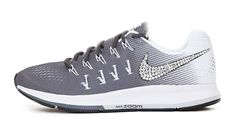 Over Discount Off Popular 2017 Fashion glitter kicks Nike Air Zoom Pegasus 33 Swarovski Swoosh Gray Adidas Running Shoes, Best Running Shoes, Nike Shoes, Sneakers Nike, Rhinestone Shoes, Bling Shoes, Glitter Nikes, Curry Shoes, Nike Gold