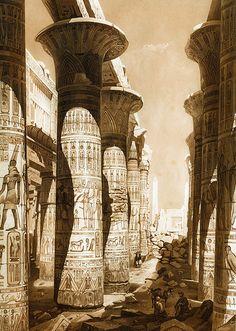Hector Horeau - Salle Hypostyle de Karnac, Egypte, 1841 | Flickr - Photo Sharing!