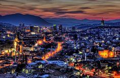Dusk and night lights over Sarajevo. Read more on our website: www.tourguidemostar.com #newyearseve #celebration #mostar #sarajevo #blidinje #vlasic #bosniaandherzegovina #tourguidemostar #travel #traveltips #travel #citylife #nightime