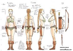 character sheets: full body Thara by Ignifero.deviantart.com on @deviantART