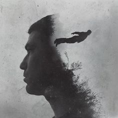 Photographer Brandon Kidwell created a series of double exposure portraits that he called 'Wisdom for my Children'. He created the images with his iPhone and. Double Exposure Photography, Conceptual Photography, Photoshop Photography, Portraits En Double Exposition, Exposition Multiple, Multiple Exposure, Jolie Photo, Photo Series, Photography Projects