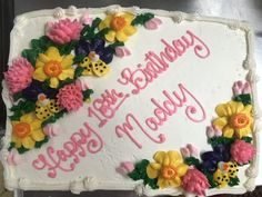 Daffodils and Pansy Sheet cake Pansies, Daffodils, Young Adults, Teen, Cakes, Desserts, Food, Meal, Deserts