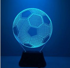 Novelty Seven Colors Changing Football 3D  Light-Up Toys