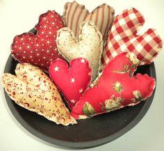 Primitive ♥ bowl fillers (SET of 7) $10 100% hand stitched