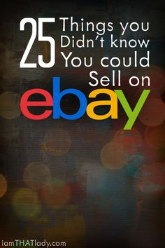You will be SHOCKED to see that some of the item on this list can make you BIG MONEY by selling on Ebay.