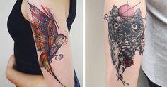 Colorful And Sketchy Tattoos By Vesna | Bored Panda