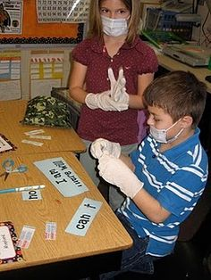 Oh. My. Word.  Contraction surgery!  What a spectacular idea.  I will totally be doing this with my first graders.  That is if we teach contractions. :o)  Otherwise, I'll be sharing the idea!
