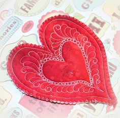 With 5 days left until Valentine's Day, there is still plenty of time for a few small, but sweet, gifts! We're loving these Free-Motion Quilted Heart Ornaments by Wendy of #IvorySpring. They are a quick sew and the perfect size to practice your free-motion quilting skills. Wendy used #Aurifil 50wt variegated thread.   For the tutorial, please visit:  https://ivoryspring.wordpress.com/2016/02/08/free-motion-quilt-heart-ornaments/