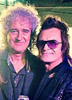 With my old friend Brian May. A gentleman & scholar & damn fine guitar player...