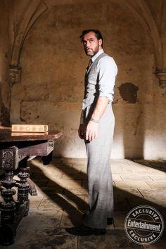 Albus Dumbledore (Jude Law) at Hogwarts, where he teaches Defense Against the Dark Arts.