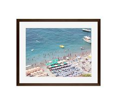 "Summer Holiday Framed Print by Rebecca Plotnick, 16x20"", Wood Gallery Frame, Espresso, Mat"