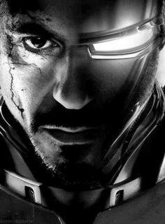 Iron Man Tony Stark face merge