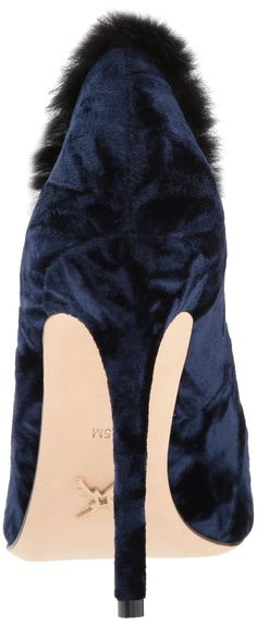 a498121a8d1 Nicole Miller Womens GenoaNM Pump Navy Velvet 5.5 M US   Want to know more