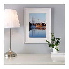 KNOPPÄNG Frame, white stained white stained 12x16