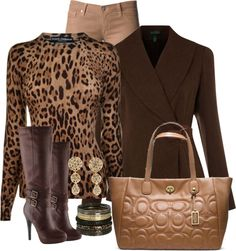 """Animal Print Casual Look"" by missred76 on Polyvore"