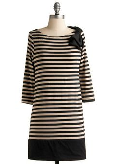 Take a Trip Tunic from www.modcloth.com.  The striped cotton top is hand-washable and very stripey. $39.99