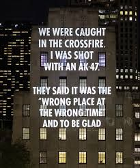 confronting the issue of gun violence, jenny holzer is projecting a new light display titled 'VIGIL' onto the landmark buildings at rockefeller center. Jenny Holzer, Salford, Op Art, Manhattan Times Square, Lower Manhattan, Life Is Beautiful Festival, Ohio, New Shadow, Lines Quotes