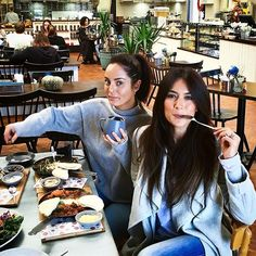 @chloemorello and me doing what we do best when we hang out...we EAT a FEAST 😂…