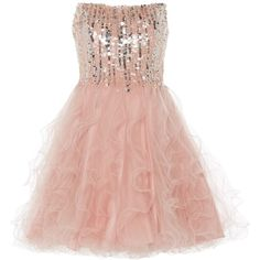 ANOUSHKA G Cara short embellished prom dress ($195) ❤ liked on Polyvore featuring dresses, pink, short dresses, vestidos, sale, pink prom dresses, short evening dresses, sweetheart neckline cocktail dress and sequin cocktail dresses