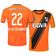 2357f9257 river plate third 16 17 andres orange soccer jersey Argentina League