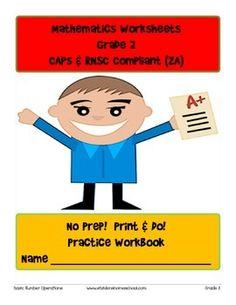 No Prep! Print & Do! Grade 2 Math Practice Workbook CAPs C 2nd Grade Math, Grade 2, Second Grade, Math Exercises, Math Drills, Math Practices, Mathematics, Curriculum, Worksheets