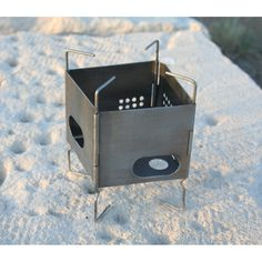 """3"""" Folding Firebox Nano Stove I have this in stainless steal, bought from Bushcraft Canada along with the large Folding Firebox Stove and some accessories. It arrived a few days after ordering at a very reasonable postage price."""