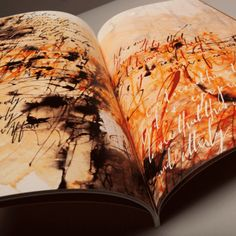 Book by Kirsten Burke of famous speeches made into pieces of calligraphic art works. Tutu detail