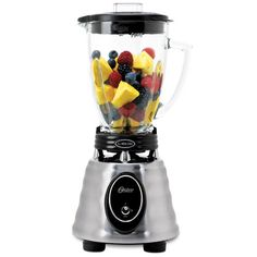Cheap Oster BPCT02-BA0-000 6-Cup Glass Jar 2-Speed Toggle Beehive Blender, Brushed Stainless. Click Image For Details.