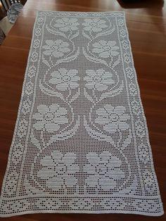 Crochet Patterns Filet, Crochet Bedspread Pattern, Crochet Table Runner Pattern, Crochet Ripple Blanket, Crochet Tablecloth, Doily Patterns, Crochet Doilies, Thread Crochet, Crochet Books