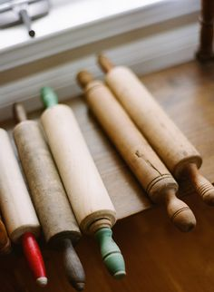 The very first thing Woody made for me was a beautiful rolling pin he turned on a lathe.  Brave man! (: