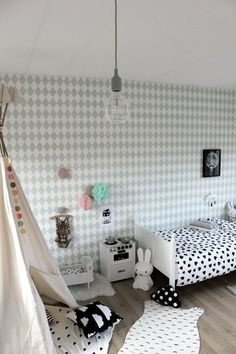 Trend Watch: Harlequin Pattern in Kids Rooms