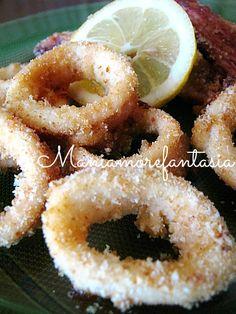 Anelli di calamari al forno buoni come quelli fritti