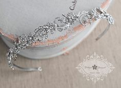 Bitter Sweet Jewellery. Bridal Collection. #VintageInspired #classic #rhinestone #CZ #Headband #crystal #WeddingJewelry #floral #sparkle #elegant #unique